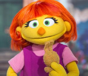 Julia, the Sesame Street character who has autism
