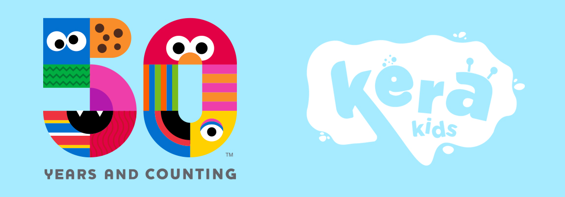 50-year anniversary logo for Sesame Street and KERA